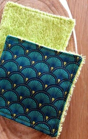Lingette démaquillante turquoise Fileen Créations