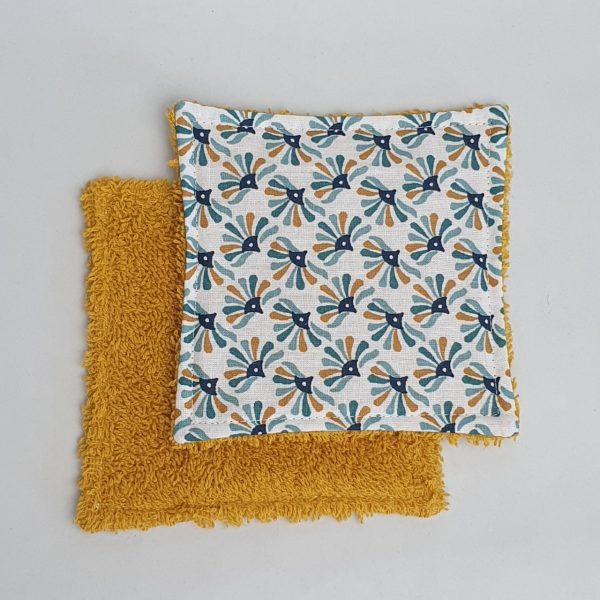 Lingette démaquillante Flowers bleu Fileen créations